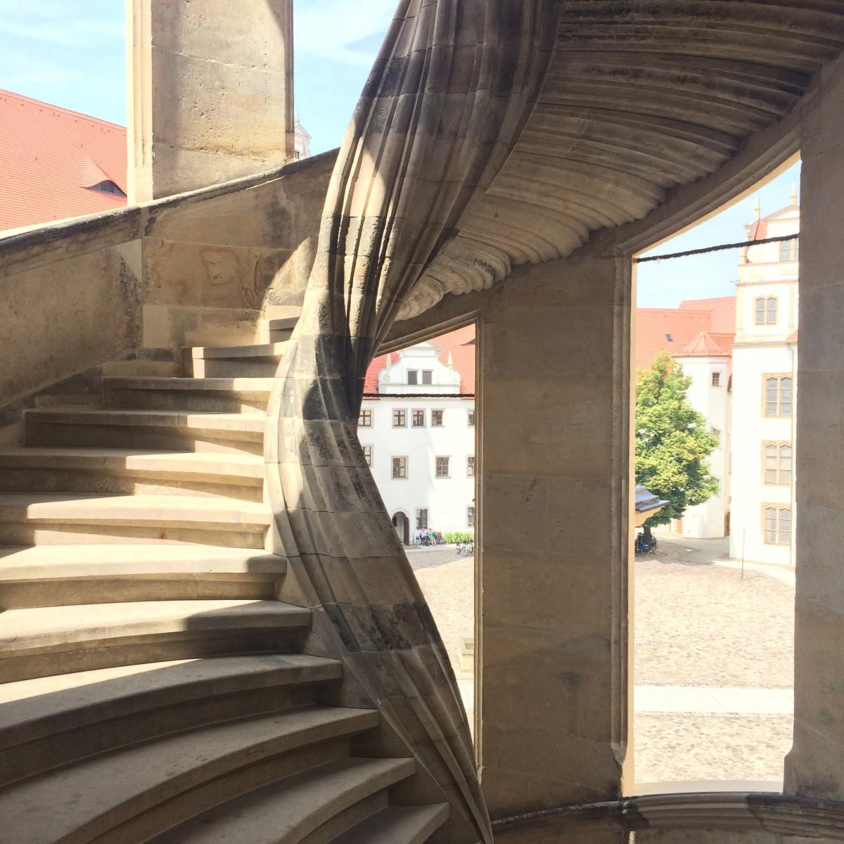 Treppe Portal Schloß Hartenfels